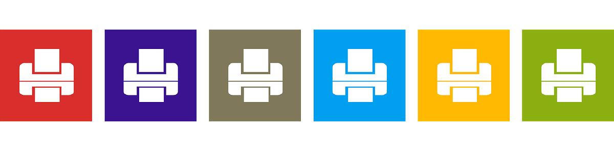 colour print icons