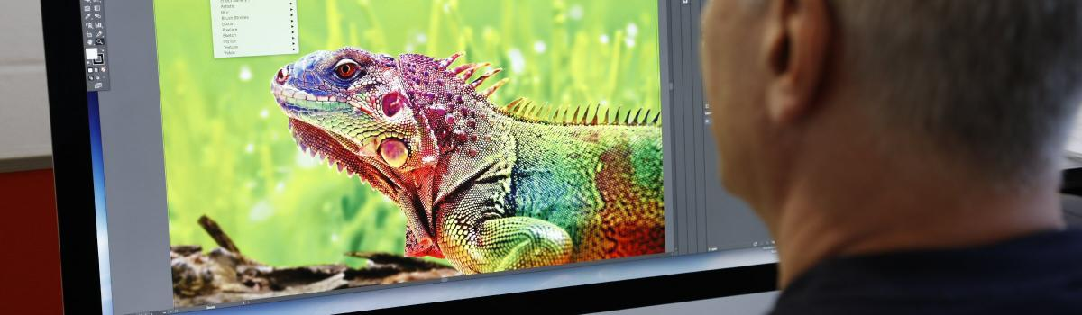 colourful image on screen