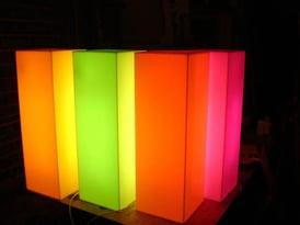 illuminated acrylic plinths