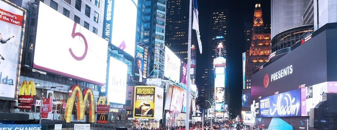 Times Square Advertising - Evans Graphics