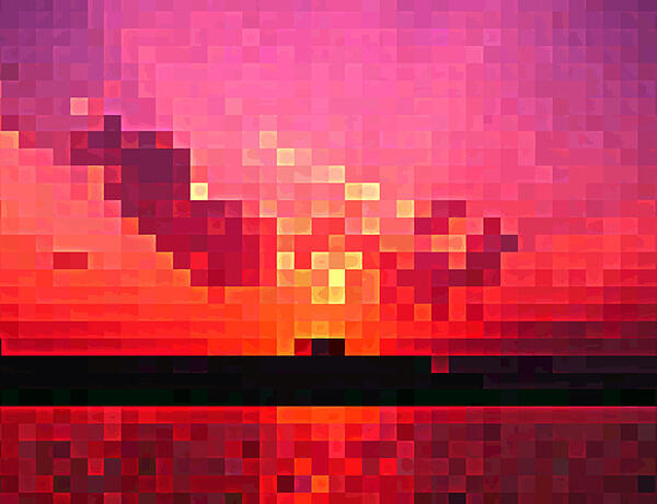 blurry sunset image
