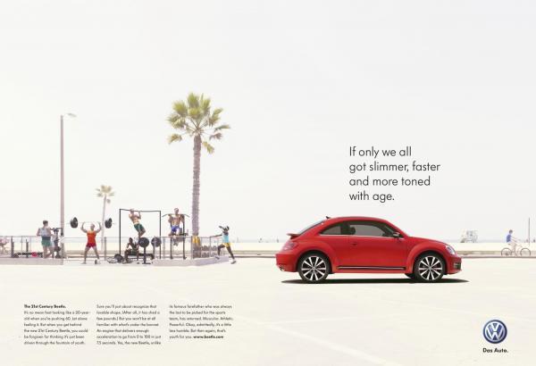 Volkswagen Beetle Advertisement - Evans Graphics